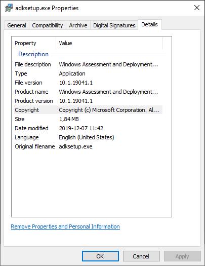 Windows ADK 2004